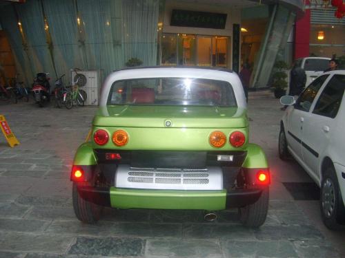街头实拍国产野马纯电动概念车 组图高清图片