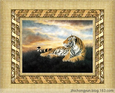 滚动式动画:珍惜动物东北虎 (代码) - 雪山雄鹰 - 东北雪山雄鹰恭候朋友