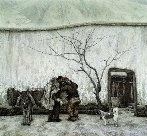 油画名家孙为民作品 - 刀客 - 刀客的江湖