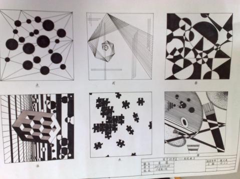设计作业 点线面体平面构成