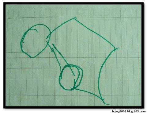 一筆畫就的車輪,很圓哦 - hqing2002 - 画中话