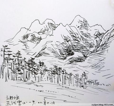 丽江速写(二):玉龙神伤图片
