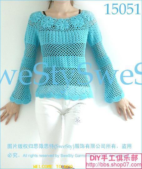 转载:夏日长袖衫-领部拼花 - 梅兰竹菊 - 梅兰竹菊的博客