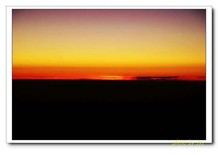 长空日落一线红[原] - 自由诗 - 人文历史自然 诗词曲赋杂谈