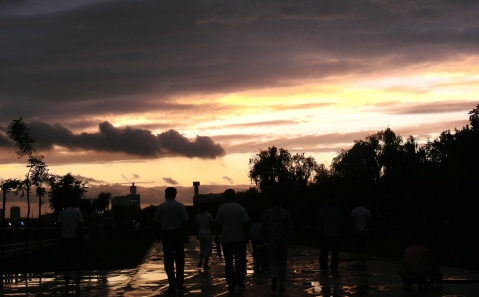 雨后初霁晚霞飞 - 人淡如菊 - 人淡如菊的博客