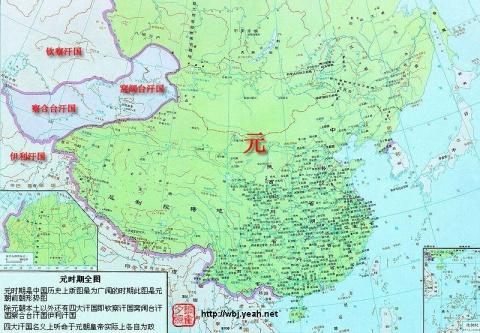 中国元朝地图,元朝疆域地图 - 老烟头 - 未名设计-DENNIS