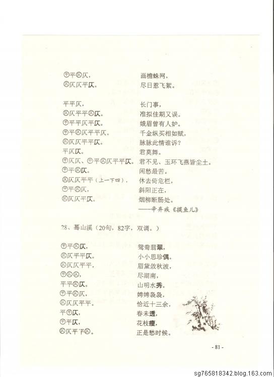 【转载】常用词谱(三)[77——83] - 墨禪 - 我的博客