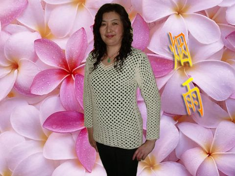 白色棱角网格长袖衣(有图解) - 烟雨 - 愿友谊盛开 永恒!