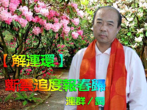 王连群词【解连环】 断云追度报春归 - 今生有你 - wlq19580 的博客