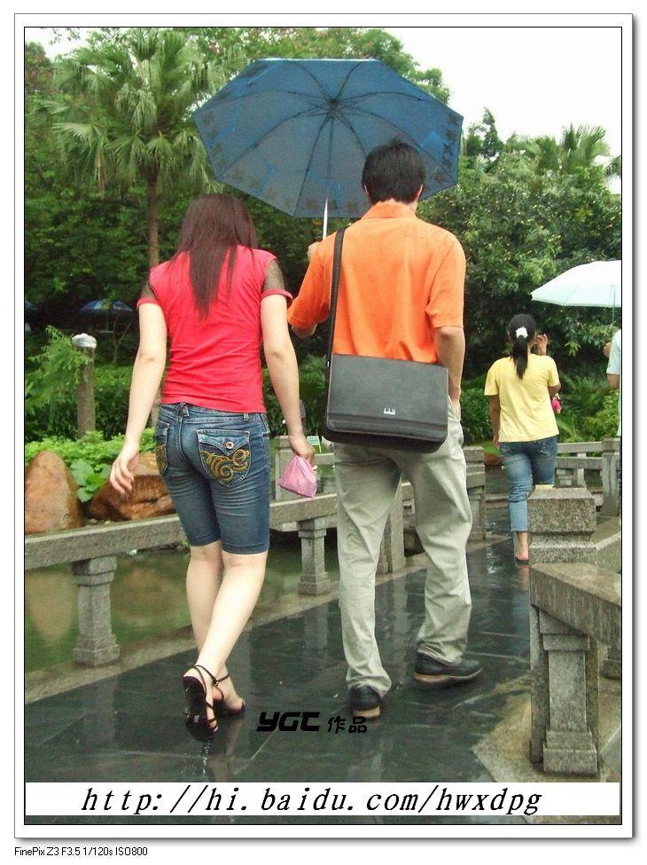 着紧身牛仔短裤的幸福情侣美臀  - 源源 - djun.007 的博客