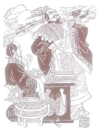 三国剪纸图 - 诚心 - myhfmmxr 的博客