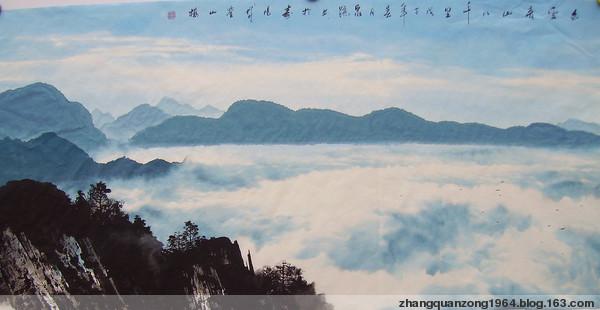 网友书画欣赏(4)——泉踪的彩墨山水画 - 静涛 - JINGTAOS   BLOG