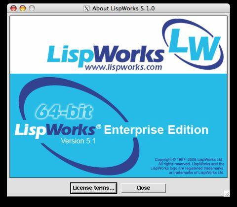 LispWorks 5.1 release, 27 March 2008 - 氷河 - Chun Tian (binghe)
