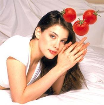 番茄+芒果 DIY天然护发素