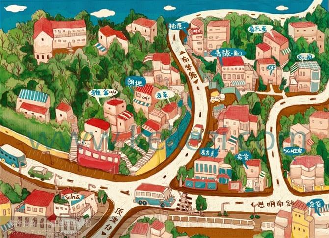 厦门卡通地图