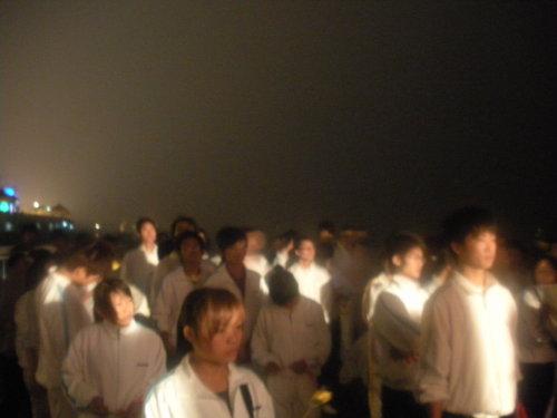 安庆市纪念5.12一周年活动现场(摄于焚烟亭) - wzs325 - 王志顺
