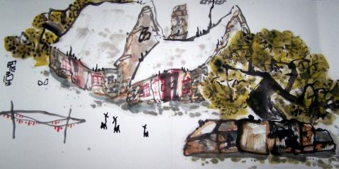 """不可不看的""""田园山水现象""""之(七十九) - 书画家罗伟 - 书画家罗伟的博客"""