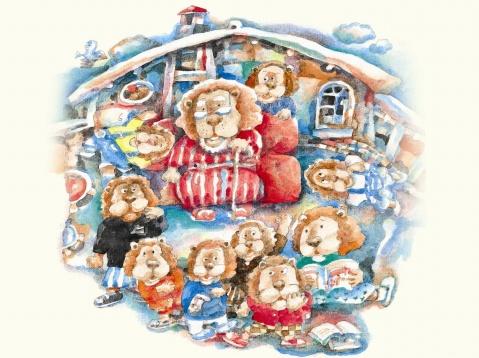理发狮和被理发狮子 - 爱幼大二班 - 爱里舍幼儿园大二班 的博客