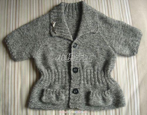 小织的作品——时尚短袖小开衫 - 风前横笛手工网 - 风前横笛手工网博客