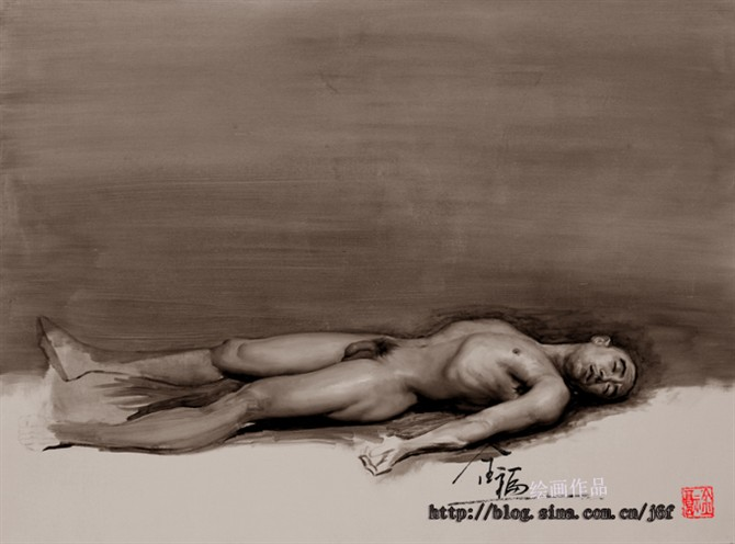 人物油画的诞生——林金福油画欣赏 - 蓝天守望者 - 蓝天守望者