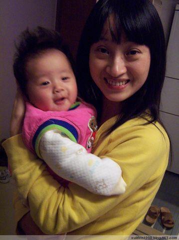 妈妈的新发型和宝宝三个月发型图片
