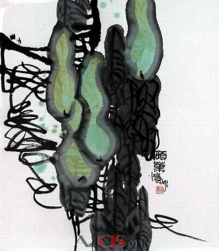 潘公凯国画荷花 作品欣赏 陶农的日志 网易博