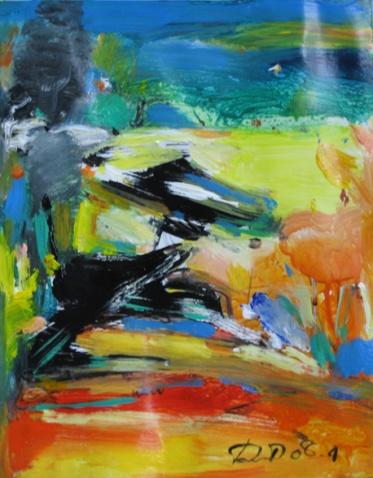 在色彩中陶醉(读董伟油画风景) - 应歧的油画风景 - 应歧的油画风景