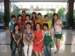 和我的学生们在一起 - 梦笛 - 梦笛的博客