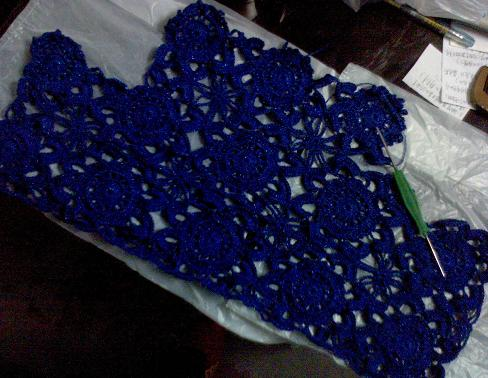蓝色的梦———一线连钩(已钩完,最后面是效果图) - 浮萍 - 浮萍的博客