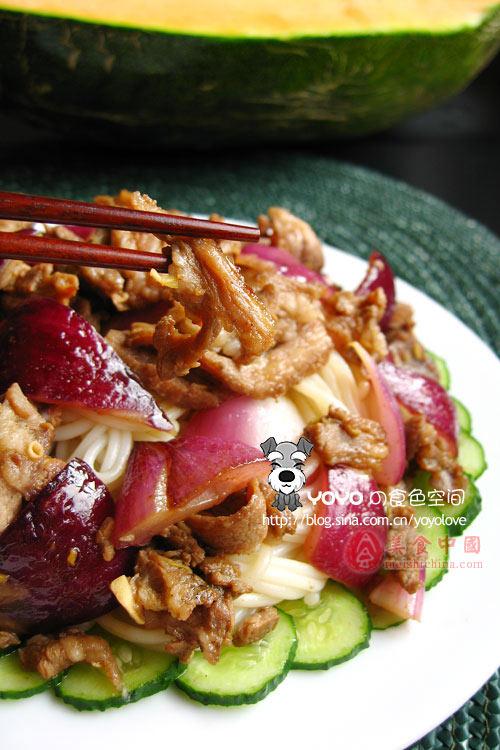 新疆美食--羊肉黄面