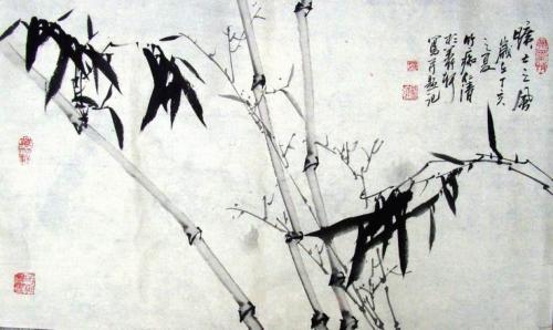 (原创)邹仁清墨竹册页10开 - 万竹轩 - 宗翰艺苑