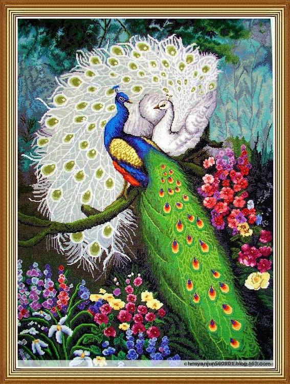 绿光森林--烟雨大型十字绣作品欣赏 - 烟雨蒙蒙 - 烟雨蒙蒙的博客