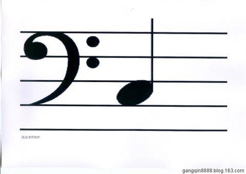 音.   中央c-do在高音谱号和低音谱号的写法不同,但是是同一个