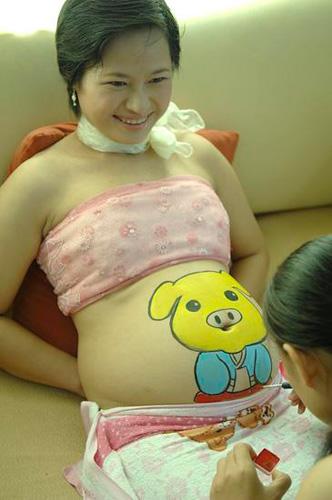 怀孕妈妈举行形体彩绘大赛(组图) - 潇彧 - 潇彧咖啡-幸福咖啡