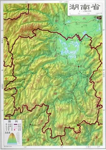 【湖南地图】湖南旅游地图;