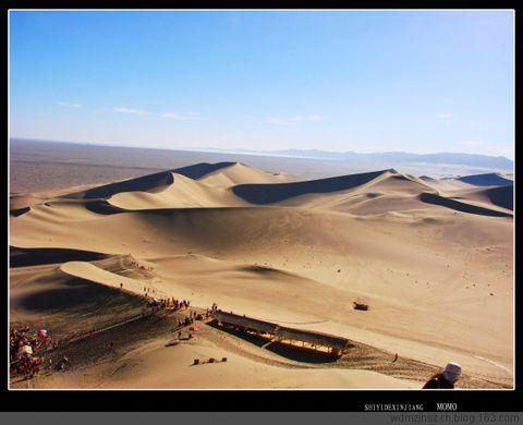 [原创图文]沙漠奇观——鸣沙山和月牙河 - MOMO - MOMO 的博客