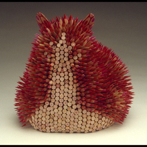 铅笔雕塑 - 池塘边的榕树林 - 镜月博客