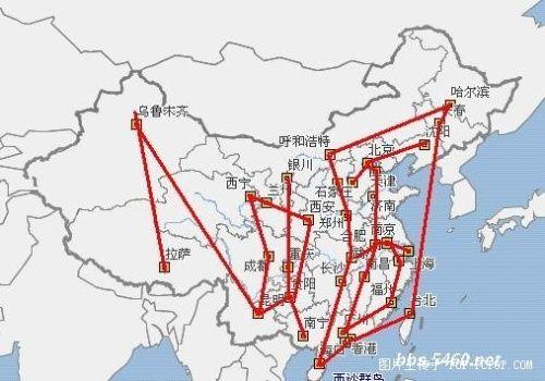 """""""人""""字位于中国西部地区"""