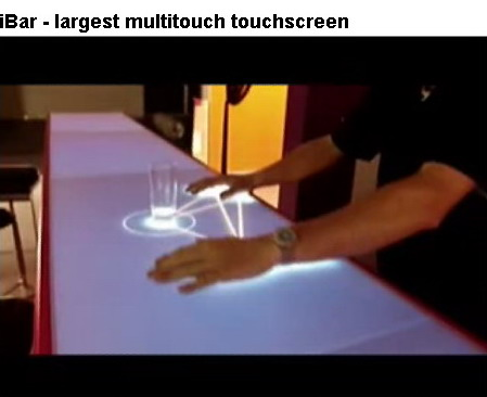 iBar - largest multitouch touchscreen [触摸吧] - fatiaochong - [发条虫] in 2011
