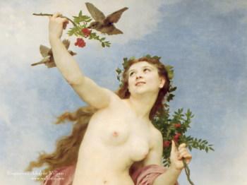 法国绘画大师布格罗油画欣赏 - 雁月菊蚕 - 流泪的风......
