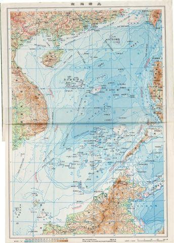 1976年南海诸岛地图