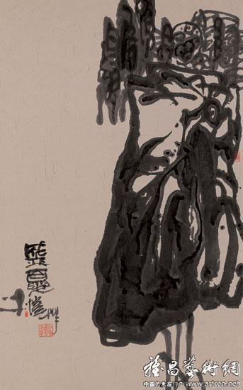 潘公凯国画荷花作品欣赏 陶农的日志 网易博