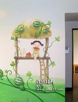 手绘墙画 - 旧楼冬 - 挽幕斋