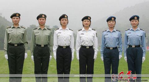 07式陆海空女兵夏军服-引用 庆祝 八一 和 巾帼军花图片