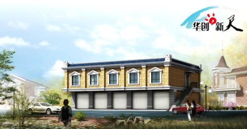 运用欧式风格屋顶而又追求建筑外立面的多元化