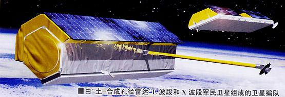 图文:由L波段和X波段军民卫星组成的卫星编队