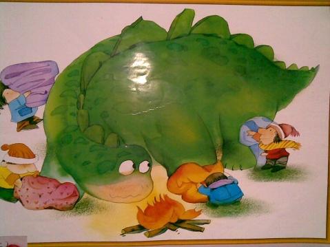 故事《怕冷的大恐龙》 - 快乐的小一班 - 快乐的小一班的博客