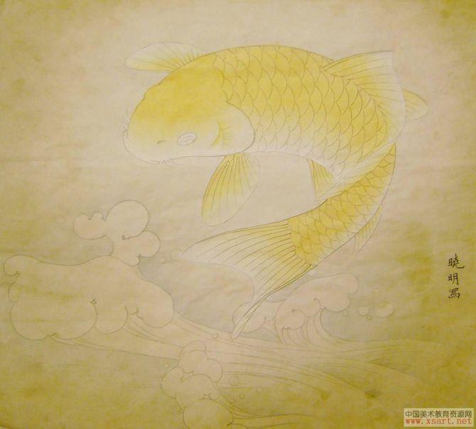 【转载】《工笔红鲤鱼》设色步骤 - 1125139397 - 1125139397的博客