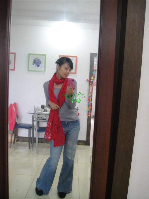 映山红~~~又一条围巾~~~再次诱惑你 - 梅兰竹菊 - 梅兰竹菊的博客