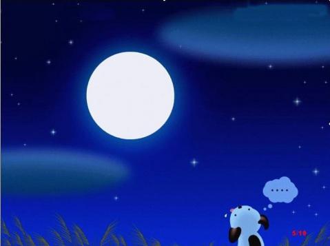 中秋吟诗赏月 - 子君 - 子君